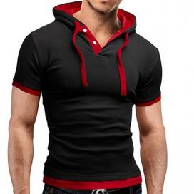 T-Shirt à capuche Noir