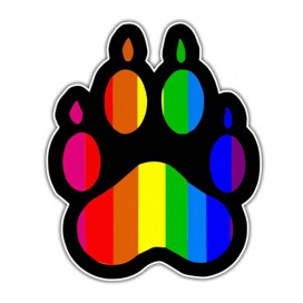Sticker Patte Rainbow