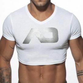 Addicted T-shirt court CROP AD Blanc