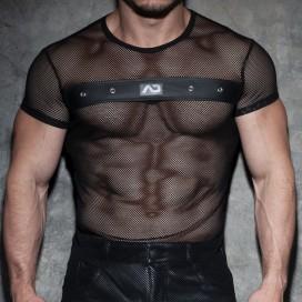 AD Fetish T-shirt MESH MIXED Noir