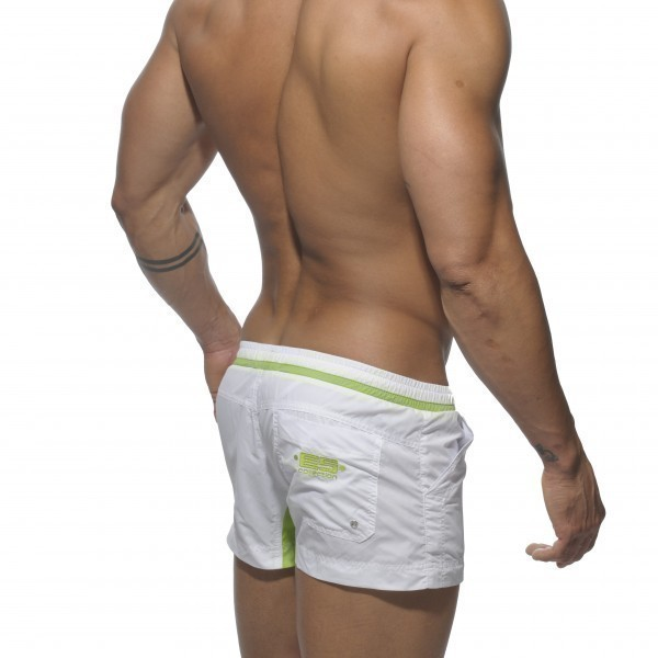 Short de bain maria theresien blanc menderwear for Calecon avec slip interieur